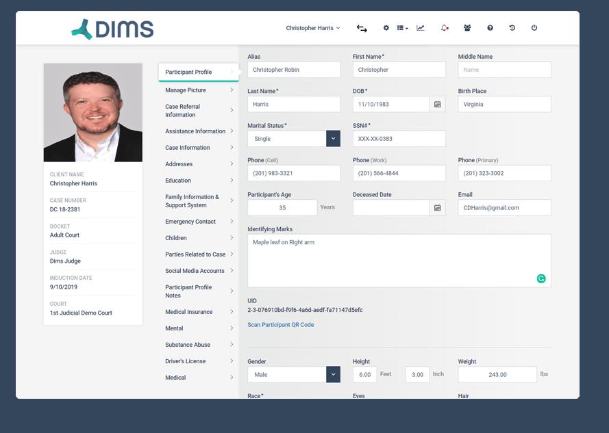 DIMS Case Management